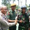 Satlantas Polrestabes Medan Sosialisasikan Tertib Lalu Lintas di Yon Armed Deli Tua