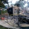 Kebakaran Hanguskan Empat Rumah di Langkat