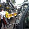 Truk Pengangkut Pasukan Sabhara Terlibat Tabrakan di Medan