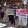 Mahasiswa dan Warga Binjai Demo Minta Hotel Salabintana Ditutup
